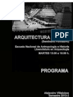 Arquitectura Mexica; 2013