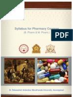 BAMU Revised B Pharm M Pharm Syllabus 2013