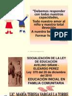 LEY AVELINO SIÑANI-NIVEL INICIAL
