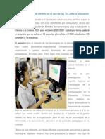 El Perú va ganando terreno en el uso de las TIC para la educación