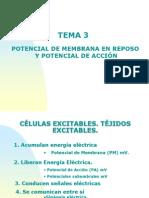 Tema 3. Equilibrio Ionico y Potencial de Membrana de Reposo (1)