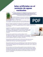 Humedales Artificiales en El Tratamiento de Aguas Residuales