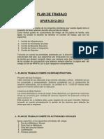Plan Trabajo APAFA 2012