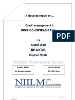 Credit Management In Indian Overseas Bank