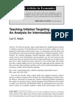Enseñando metas de inflacion Carl Wash