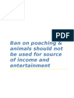 Ban on Animal Poaching