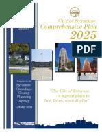 City of Syracuse Comprehensive Plan 2025