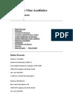 Curriculum Vitae Acadêmico