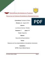 Desarrollo de Emprendedores Mexicanos Ensayo