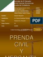 Prenda Civil y Mercantil