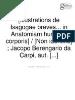 CARPI, Jacopo Berengario de. Isagogae Breves (Ilustrações)
