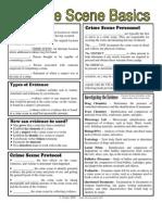 Crimescene Basics Worksheet 1