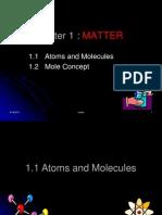 MATTER (1.1 Atoms and Molecules)2