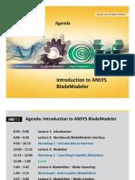 BladeModeler-Intro 14.0 Agenda