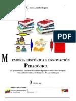 Memoria Historica e Innovacion Pedagogica c Lanz 2009[1]