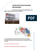 20120405 Decentralisation and Peace Building in the Western Balkans
