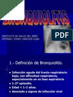 Diagnostico, fisiopatologia y tratamiento de bronquiolitis