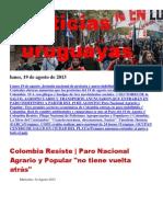 Noticias Uruguayas Lunes 19 de Agosto Del 2013