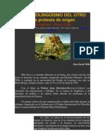 DERRIDA, J. Monolingüismo