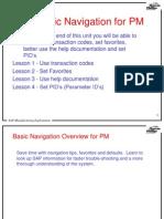 SAP Basic Navigation in the PM Module