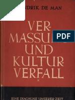 Hendrik de Man - Vermassung Und Kulturverfall