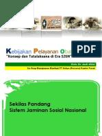 Kebijakan Pelayanan Obat , Konsep & Tatalaksana Di Era SJSN _ ASKES