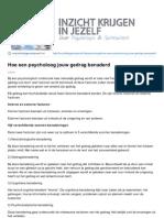 Inzichtkrijgeninjezelf.nl-hoe Een Psycholoog Jouw Gedrag Benaderd