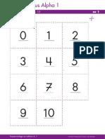 Zahlen 1 -10 Tipo Memo