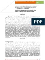 A STUDY on CHANGING CONSUMER PREFERENCES TOWARDS Organised Retailing From Unorganised Retailing