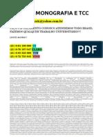 CONSULTORIA PARA UNIVERSITÁRIOS POR R$ 300,00 MONOGRAFIA E TCC