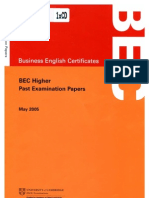 Cambridge Bec 4 Preliminary Student Book With Answers