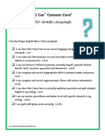 6th grade languae common core i can statements