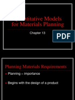Ch 13 Quantitative Models for Materials Planning