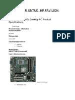 Processor Untuk HP Pavilion g3260d Desktop PC