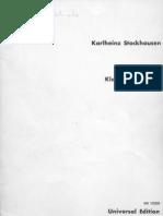 Stockhausen Klavierstucke 2 I IV