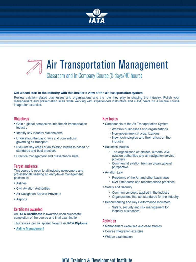 air-transportation-management pdf | Aviation | Aviation Safety