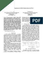 Design and Implement of QPSK Modem Based on FPGA