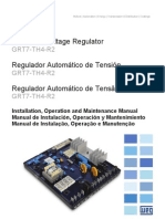 WEG Regulador Automatico de Tension Grt7 Th4 r2 10001284109 Manual Espanol