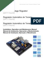 WEG Regulador Automatico de Tension Grt7 Th4 r2 10001284109 Manual Espanol