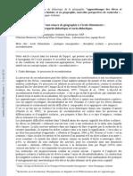Analyse d Une Seance de Geographie a l Ecole Elementaire Regards Didactique Et Socio Didactique