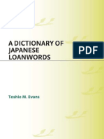 A Dictionary of Japanese Loanwords