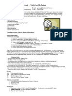 volleyball syllabus