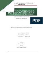 Influencia de La Tecnologia en El Comercio Internacional
