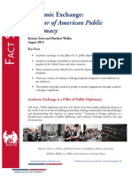 Academic Exchange - A Pillar of American Public Diplomacy