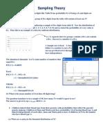 Sampling Theory Homework Help 1