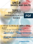 Unit 8 - Acids, Bases, And Salts Powerpoint (Updated1)