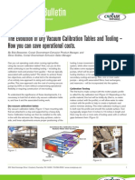 The Evolution of Dry Vacuum Calibration Tables and Tooling