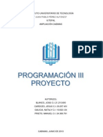 PROYECTO DE LENGUAJE DE PROGRAMACIÓN  III