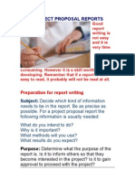 Project Proposal Reports