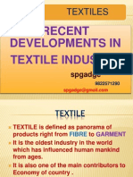 Recent development in textile industry